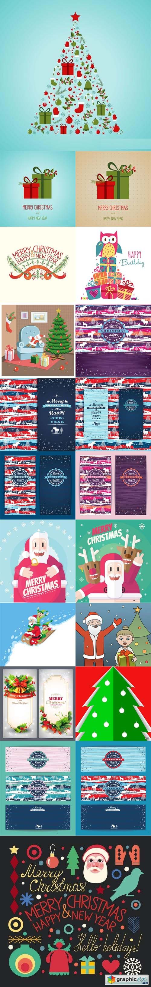 Stock Vector - Christmas Backgrounds 4