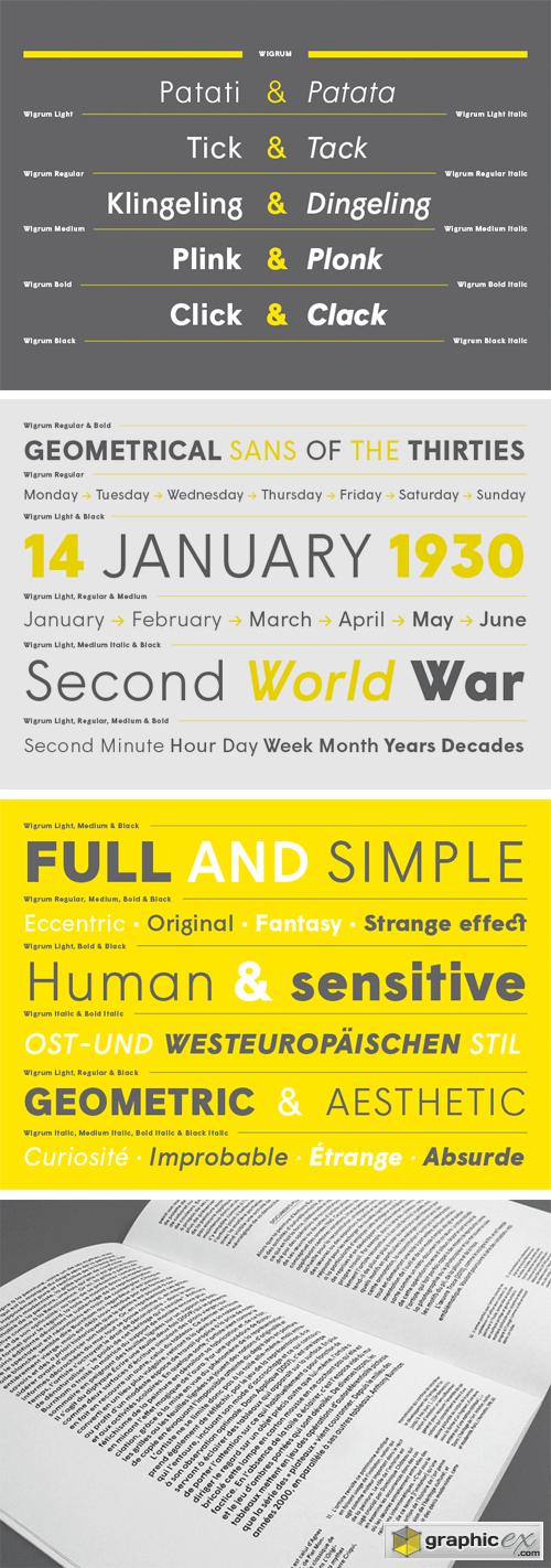 wigrum font