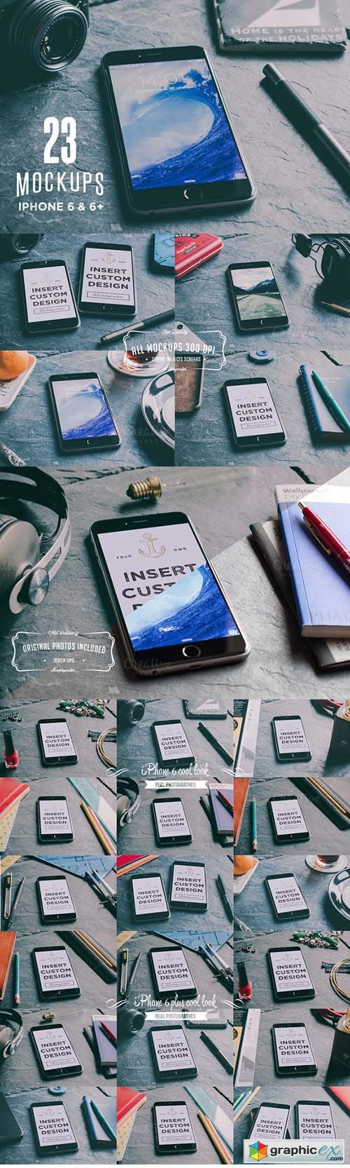 23 Cool iPhone 6 & 6+ mockups