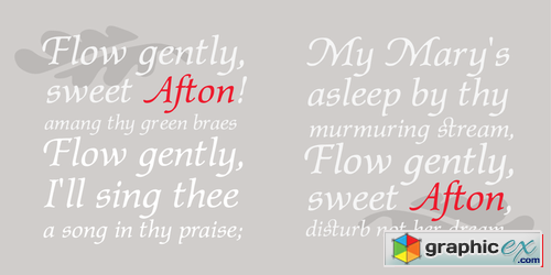 P22 Afton Font Family $25