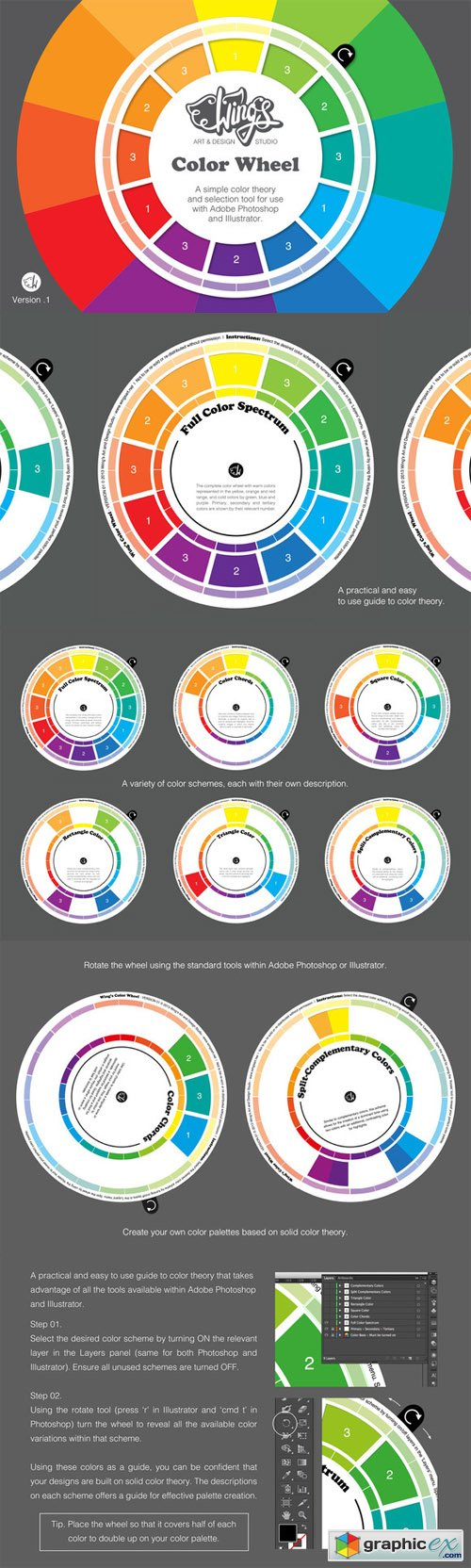 Wing's Color Wheel - Design Tool