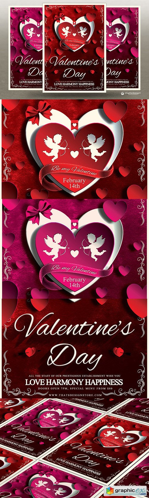 Valentines Day Flyer Template V3