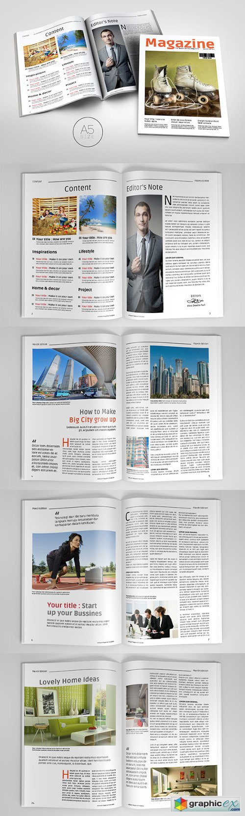 A5 Magazine Template 3