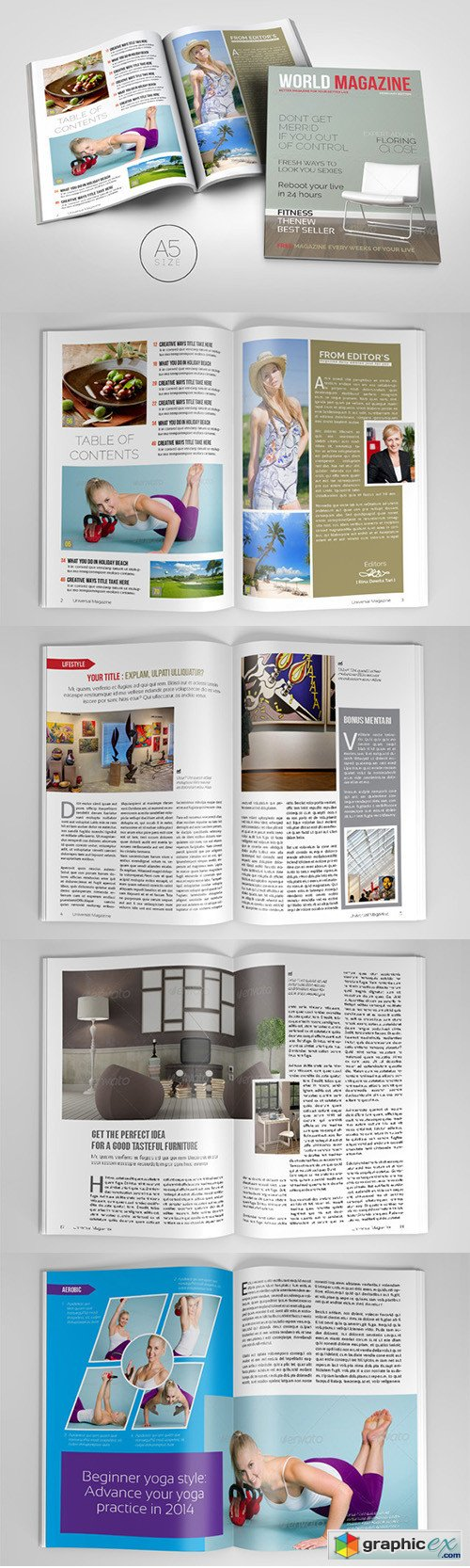 A5 Magazine Template 2 » Free Download Vector Stock Image Photoshop Icon
