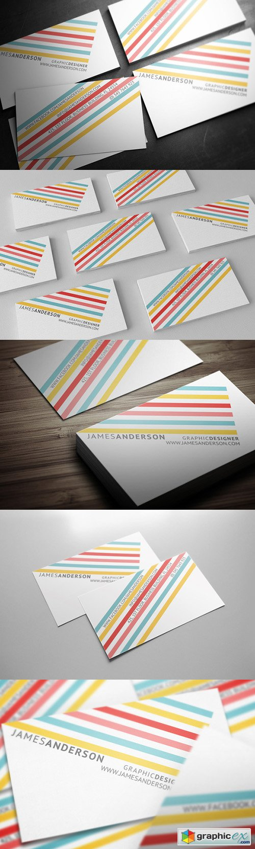 Color Stripes - Business Card