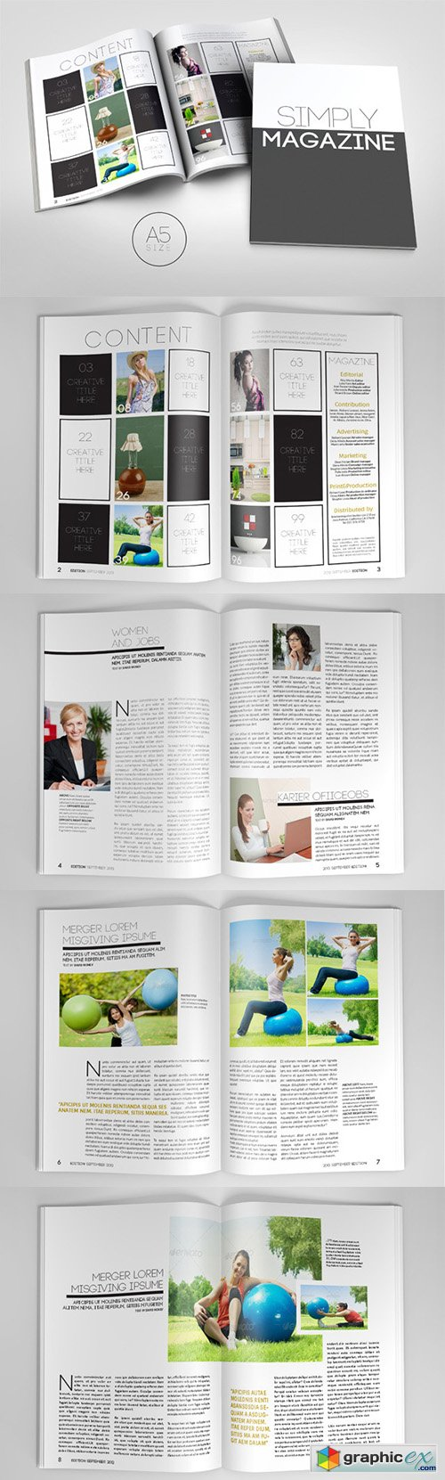 A5 Magazine Template 1