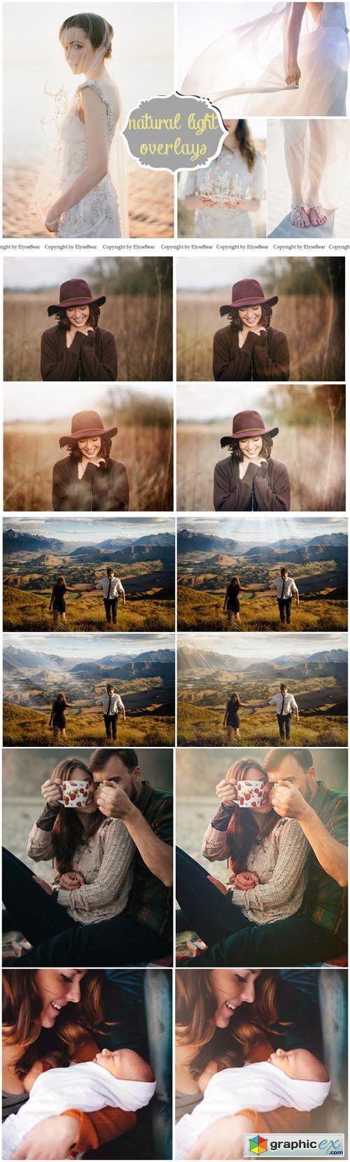 30 Natural Light Photo Overlays JPG