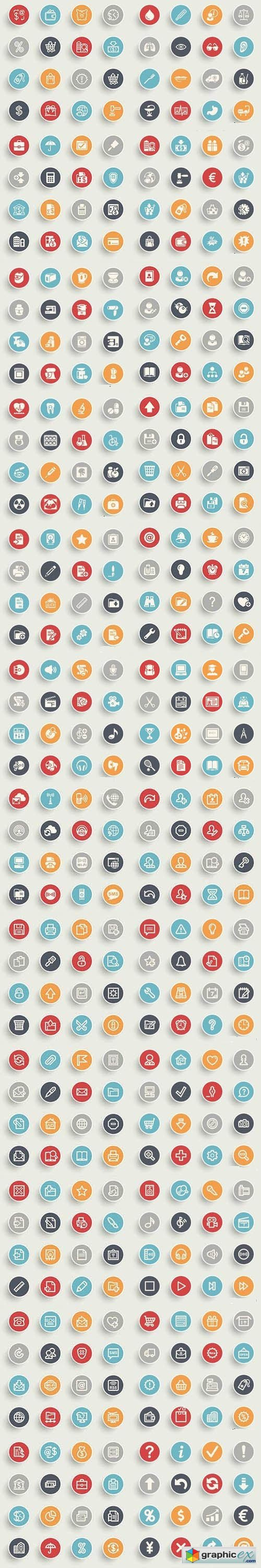Symbols & Icons on Color Buttons