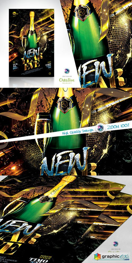 2015 New Year Eve Flyer Template V2