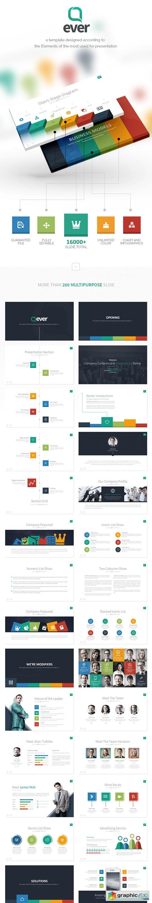 ever - multipurpose presentation template » free download vector, Presentation templates