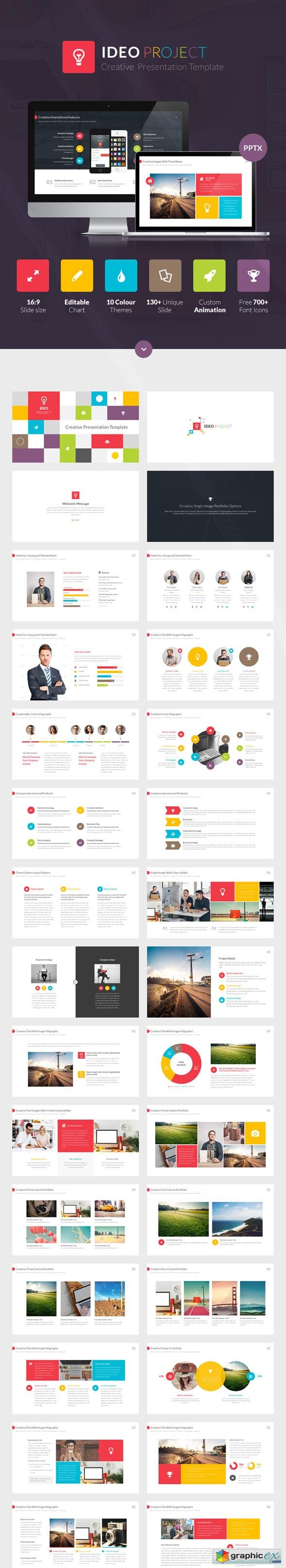 ideo powerpoint presentation template » free download vector stock, Presentation templates