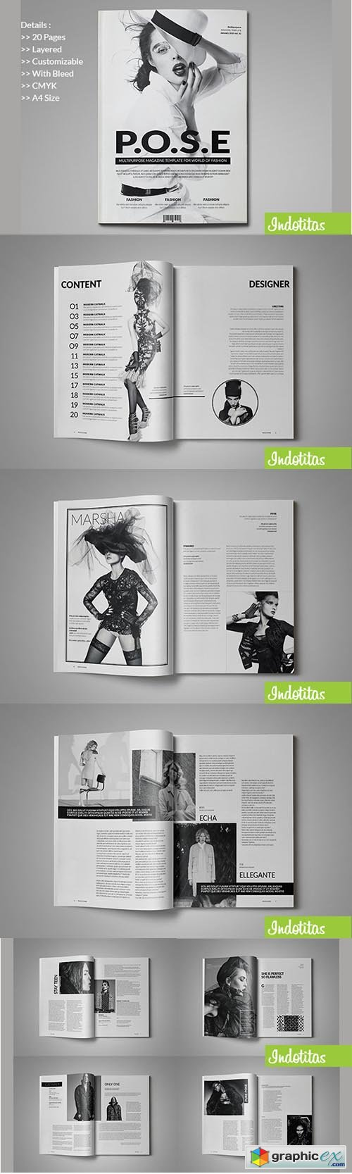 indesign magazine template » free download vector stock image, Powerpoint templates