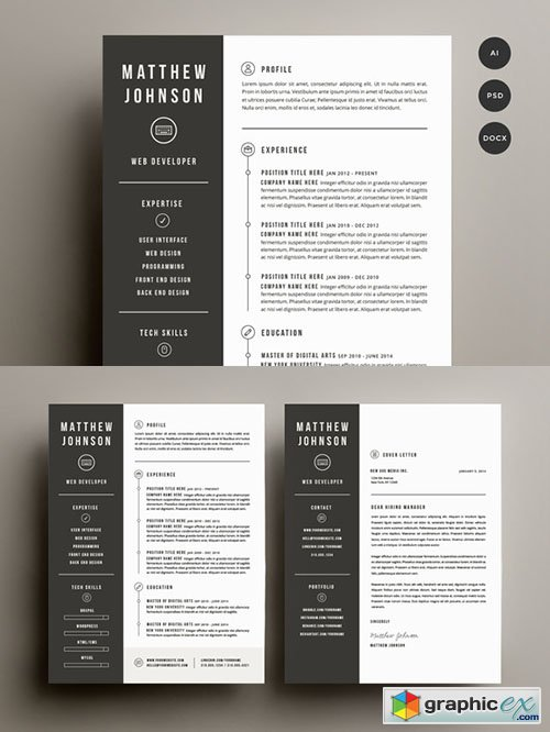 resume  u0026 cover letter template  u00bb free download vector