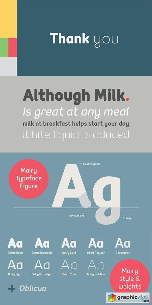 Mairy Font Family - 18 Fonts $702