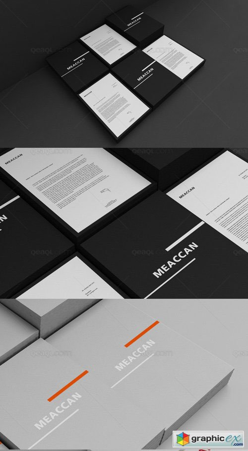 Letterhead Mockup - Black And Corporate
