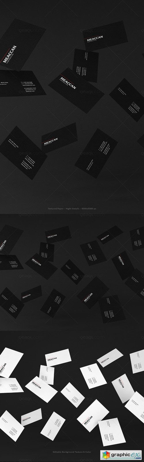 Business Card Mockup - Black And Corporate