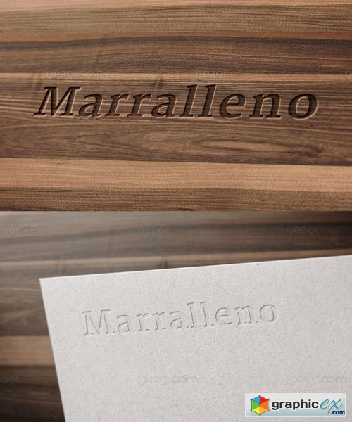 Logo Mockup - Wood And Corporate