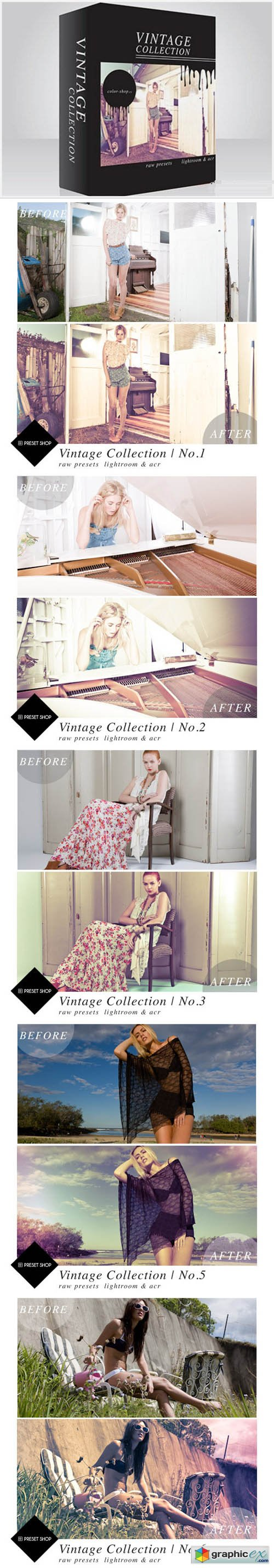 Presetshop - Vintage Lightroom Presets Collection