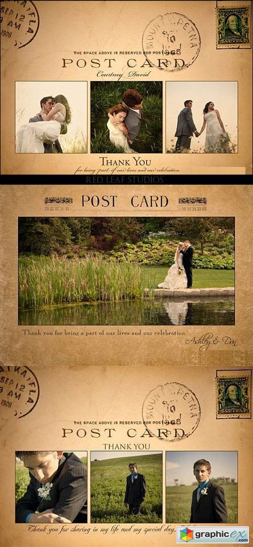 Red Leaf Studios - Vintage Postcard Templates