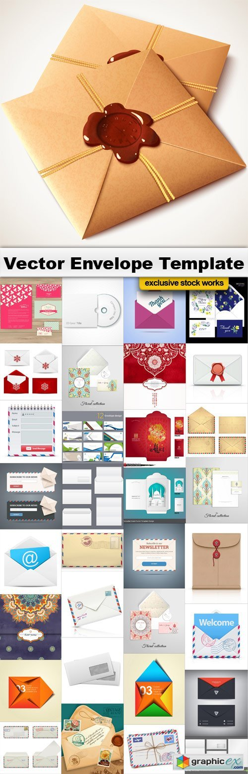 Vector Envelopes Temlates - 33x EPS
