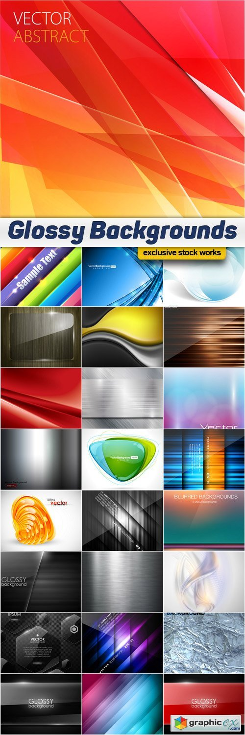 Glossy Vector Backgrounds - 25x EPS
