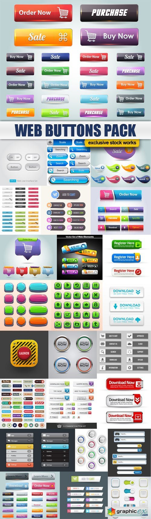 Web Buttons Pack - 25x EPS