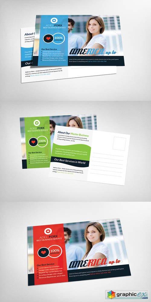 Global Business Postcard Template