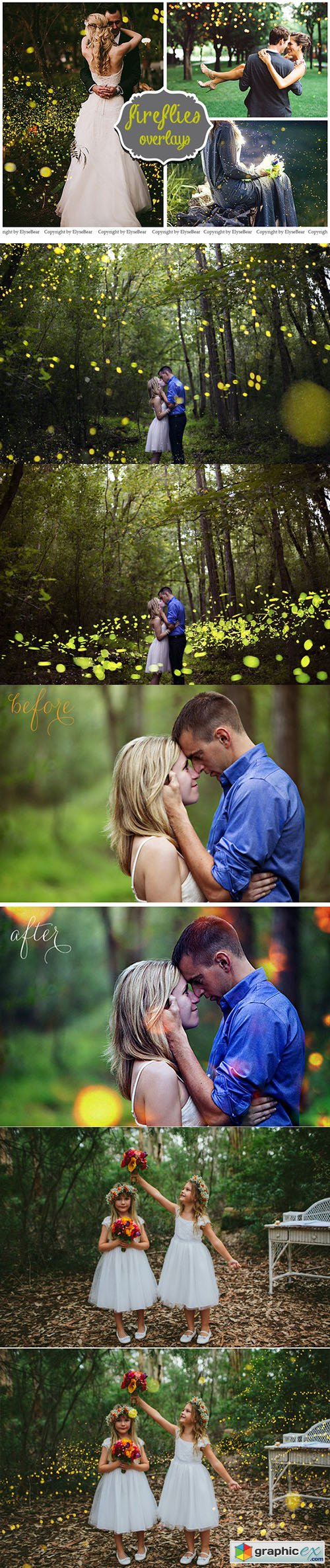 20 Fireflies Photo Overlays