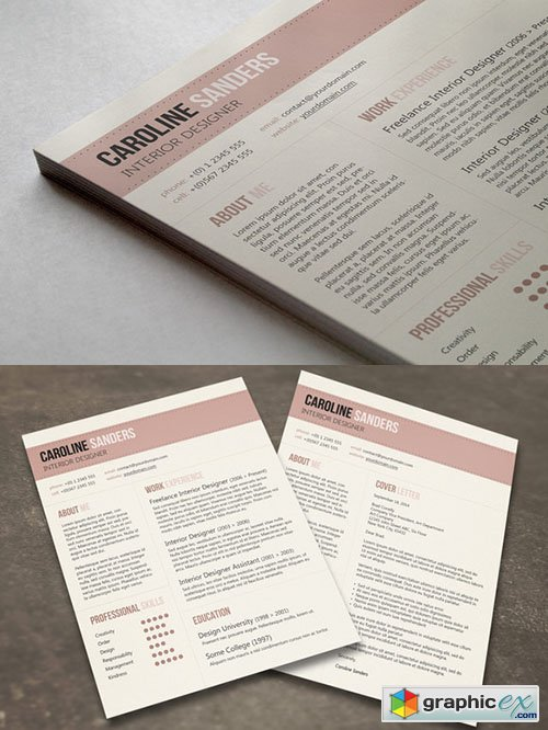 Clean CV With Cover Letter