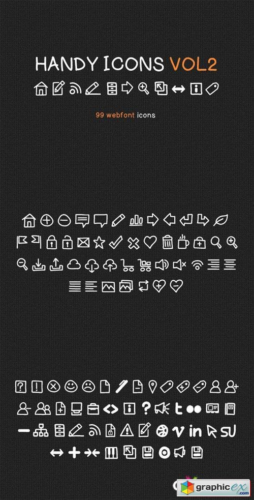Handy Icons Vol2 Web Font Kit