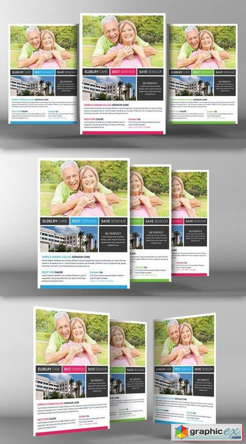 Senior Care Flyer Template