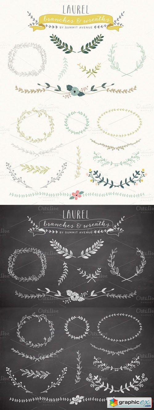 Vintage Laurel & Wreath Vector and PNG Designs