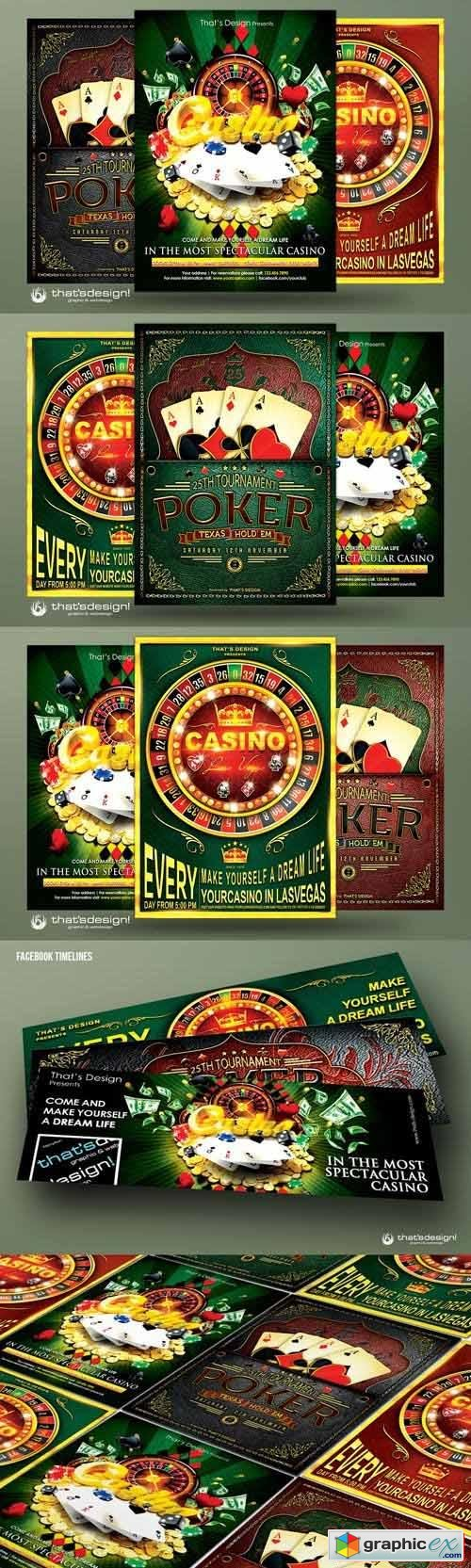 Poker & Casino Flyer Bundle