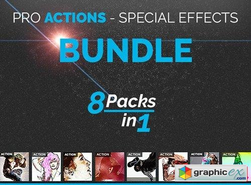 PRO Actions Bundle 8 Packs in 1
