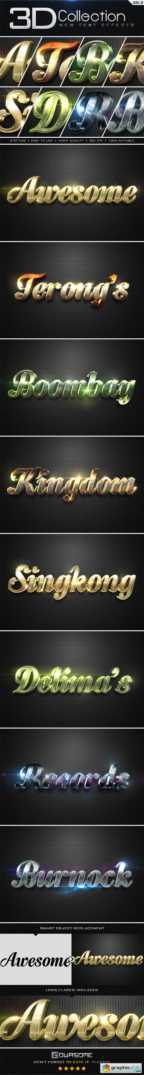 New 3D Collection Text Effects GO.3