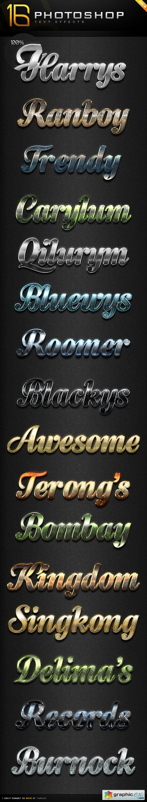 16 Photoshop Text Effect Styles GO 4