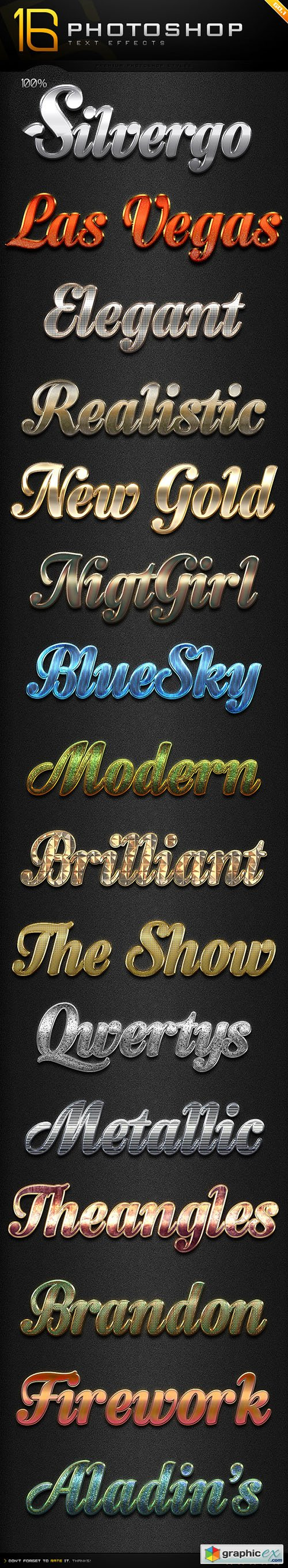 16 Photoshop Text Effect Styles GO 1