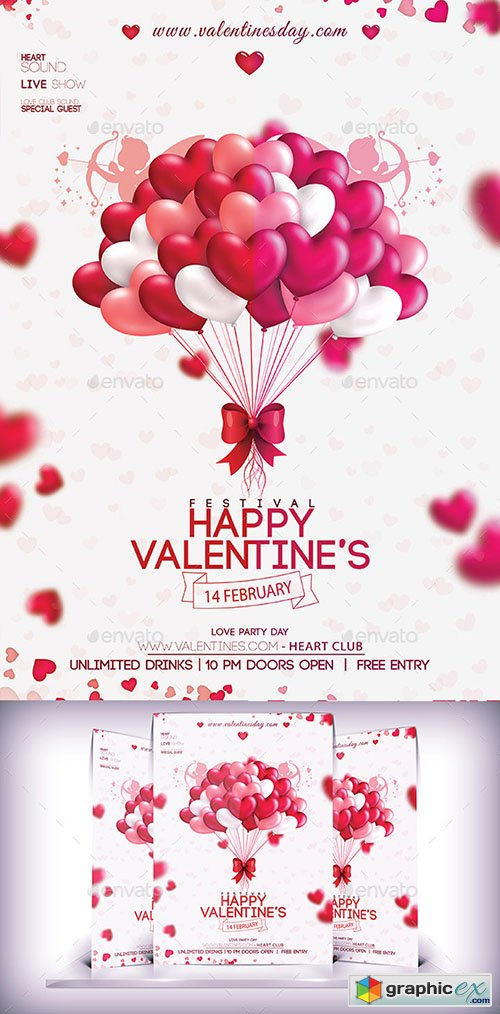 Valentines Party Day Flyer