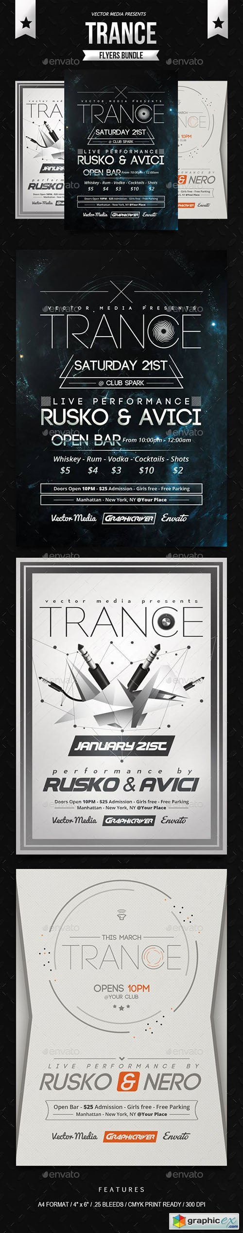 Trance Flyers Bundle