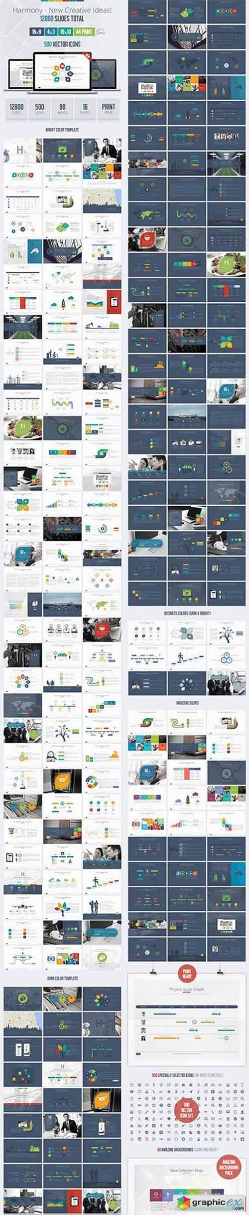 harmony usability powerpoint presentation template » free download, Presentation templates