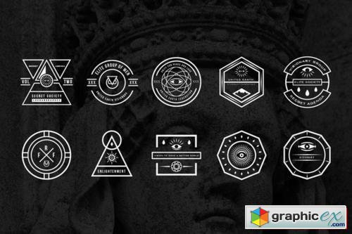 secret society badges 2  u00bb free download vector stock image