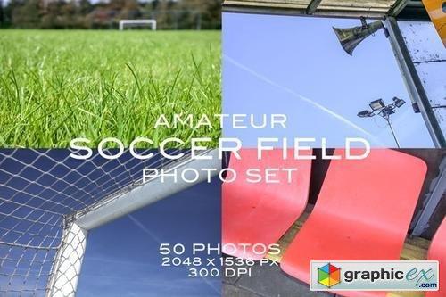 Amateur Soccer Field Photo Set