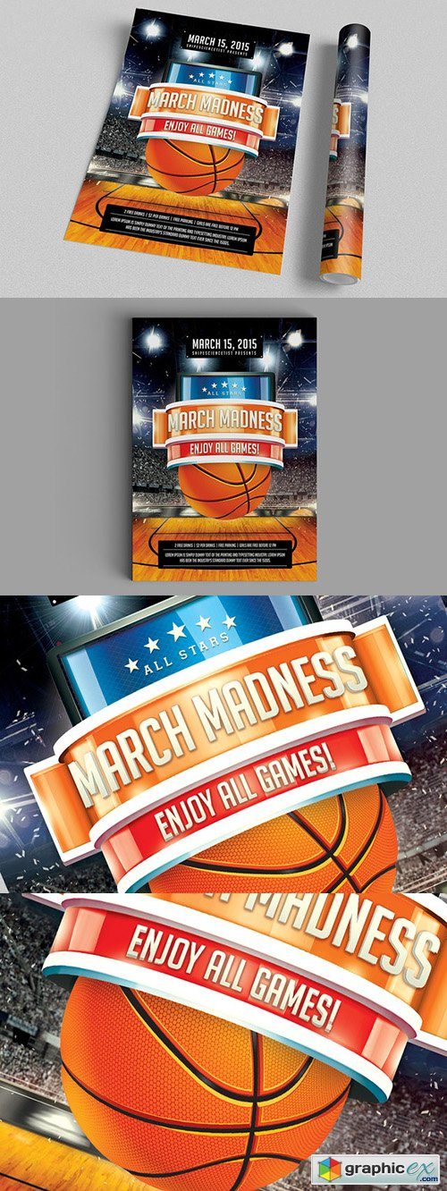 NCAA March Madness 2015 Flyer Poster