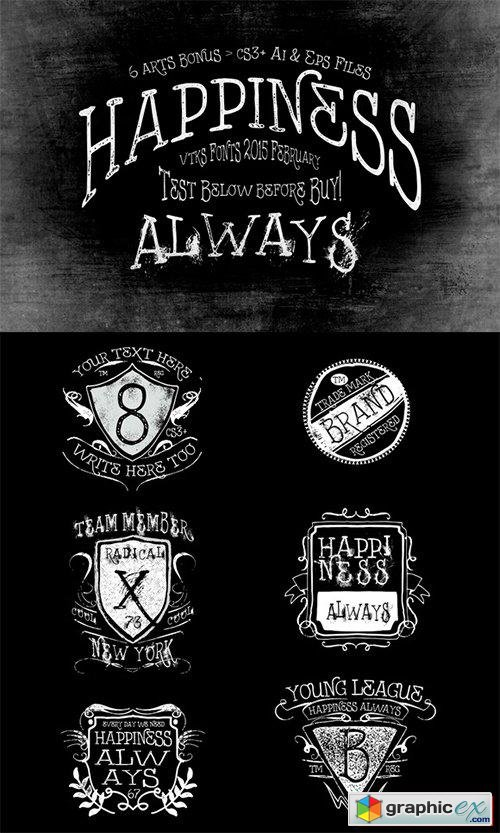 Happiness Always Font