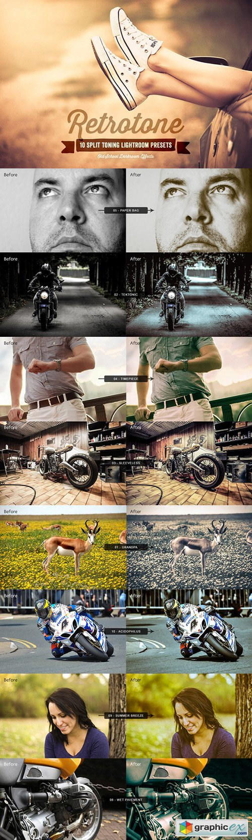 Retrotone Lightroom Presets Volume 1