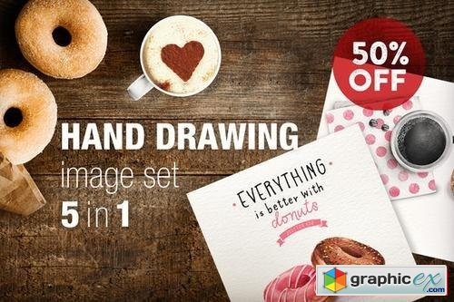 Hand drawing (image set) - 56651