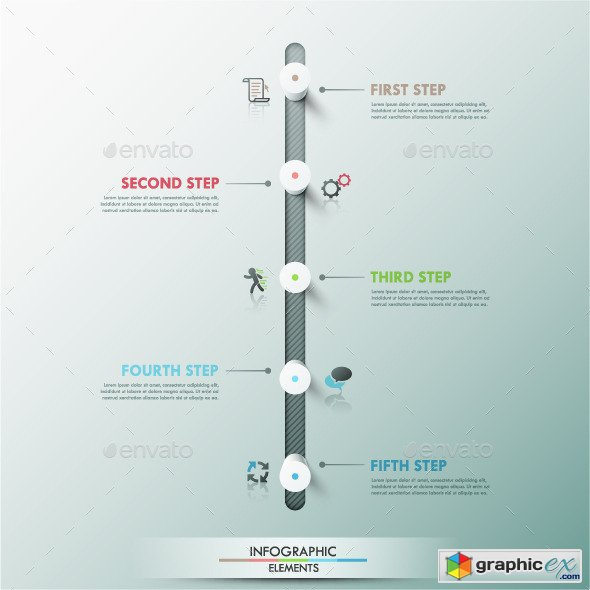 Modern Infographic Timeline Template u00bb Free Download Vector Stock ...