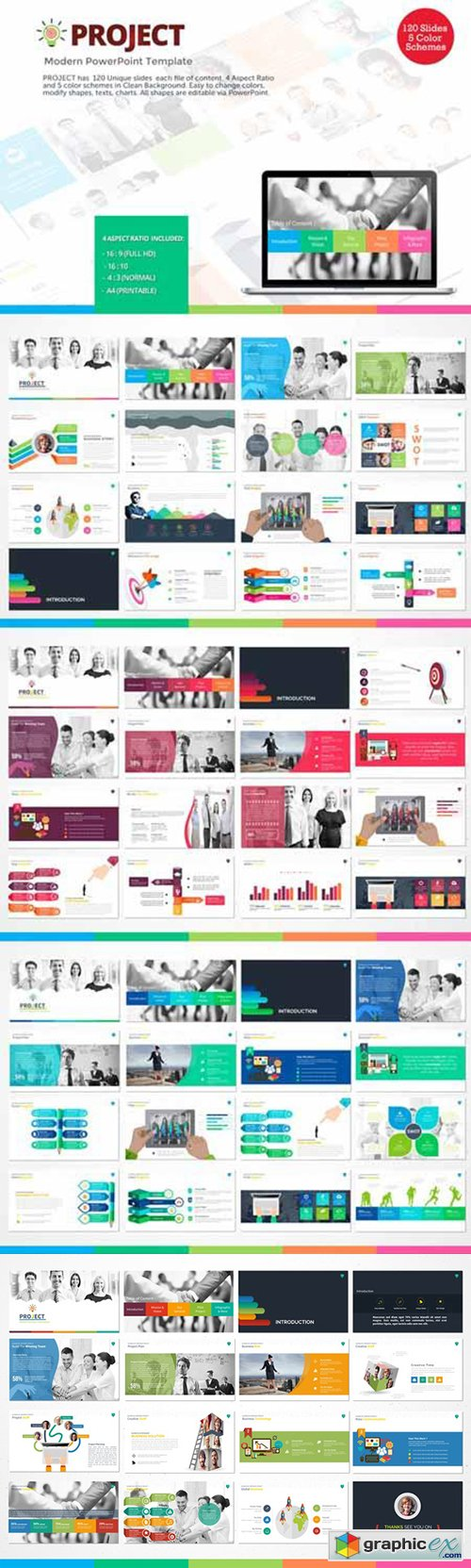 Project modern powerpoint template free download vector stock project modern powerpoint template toneelgroepblik Image collections