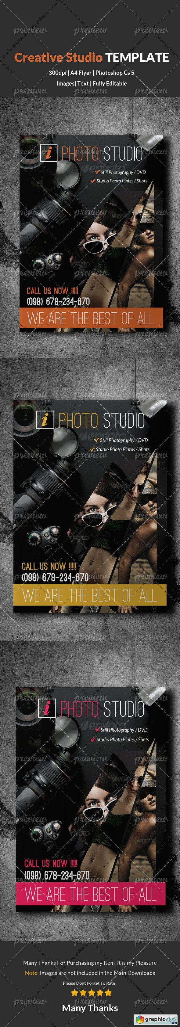 Photography & Photo Studio Flyer Template