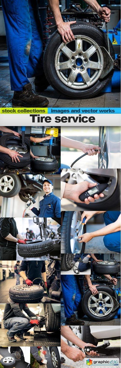 Tire service, 15 x UHQ JPEG
